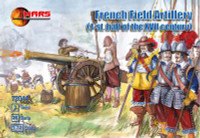 1st Half XVII Century French Field Artillery (36) w/3 Cannons 1/72 Mars Figures