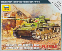 WWII German Panzer III Flamethrower Tank (Snap Kit) 1/100 Zvezda