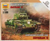 Matilda II WWII British Tank (Snap Kit) 1/100 Zvezda