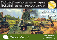 Russian T70 Tank (5) 15mm Plastic Soldiers