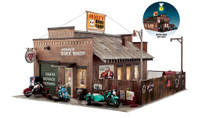Built-N-Ready Deuce's Cycle Shop O Scale Woodland Scenics