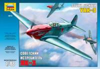 Yakovlev YAK-3 Soviet WWII Fighter Aircraft 1/48 Zvezda