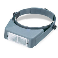 "OptiVisor LX Acrylic Lens Binocular Headband Magnifier w/Lens Plate #3 1-3/4x Power at 14"" Donegan Optical"