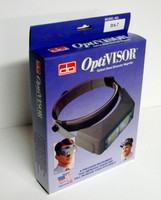 "OptiVisor Glass Lens Binocular Headband Magnifier w/Lens Plate 2-3/4x Power at 6"" Donegan Optical"