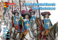 French Guards Royal Musketeers (12 Mtd) 1/72 Mars Figures