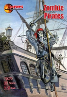 Zombie (Skeleton) Pirates (48) 1/72 Mars Figures