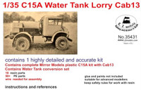 C15A Cab 13 Water Tank Lorry Truck 1/35 LZ Models