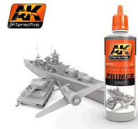 Grey Acrylic Primer 60ml Bottle AK Interactive