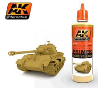 Dark Yellow Acrylic Primer 60ml Bottle AK Interactive