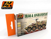 Iraq & Afghanistan Acrylic Paint Set (6 Colors) 17ml Bottles AK Interactive