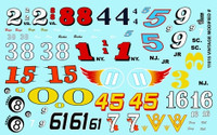 Vintage Modified Car Numbers 1/24 1/25 Gofer Racing Decals