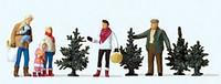 Christmas Tree Shopping & Family (5) HO Preiser Models