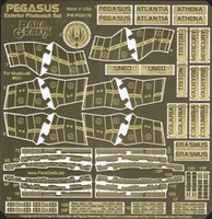 Battlestar Galactica Pegasus Exterior Photo-Etch Detail Set MOE 1/4105 Paragrafix