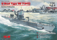 U-Boat Type IIB (1943) German Submarine 1/144 ICM Models
