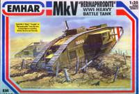 WWI British Hermaphrodite Mk V Tank 1/35 Emhar