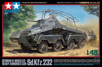 German 8-Wheeled Sd.Kfz.232 Heavy Armored 1/48 Tamiya