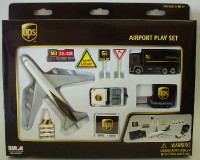 UPS Airport Die Cast Playset (12pc Set) Real Toy