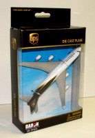 "UPS Cargo Airliner B747 (5"" Wingspan) (Die Cast) Real Toy"