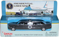 Presidential Limousine (Black) (Die Cast) Real Toy