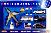 United Airlines Die Cast Playset (12pc Set) Real Toy