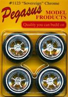 Sovereign Chrome Rims w/Tires (4) 1/24-1/25 Pegasus