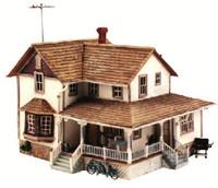 HO Built-N-Ready Corner Porch House Woodland Scenics