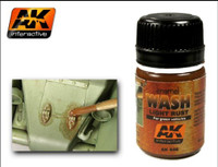 Light Rust Wash Enamel 35ml AK Interactive