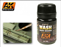 Dark Brown Wash Enamel 35ml AK Interactive