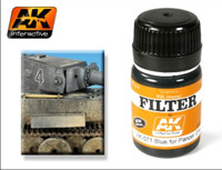 Blue for Panzer Grey Filter Enamel 35ml AK Interactive