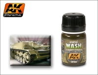Dark Yellow Wash Enamel 35ml AK Interactive