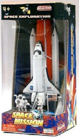Space Shuttle w/Booster & Astronauts Die Cast Playset Real Toy