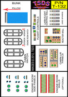 Vintage Flying Sub Decal Set for Aurora/Monogram 1/60 TSDS