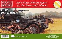 WWII Allied M5 Halftrack (3) & Crew (24) 1/72 Plastic Soldier