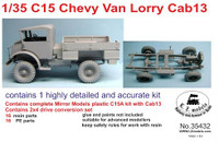 C15 Cab 13 Chevy Van Lorry Flatbed Truck 1/35 LZ Models