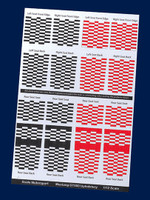 Comp. Fiber Decal Shelby GT500 Upholstery Checkerboard Pattern (Red & Black) 1/12 Scale Motorsport