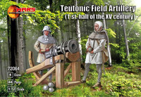 1st Half XV Century Teutonic Field Artillery (16) with Guns (4) 1/72 Mars Figures