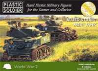 15mm WWII Allied Stuart M5A1 Tank (5) Platic Soldier
