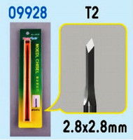 Model Micro Chisel: 2.8mm x 2.8mm Diamond Chisel Tip Trumpeter