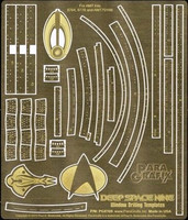 Star Trek Deep Space 9 Window Drilling Template Photo-Etch Set for AMT Kit 1/3300 Paragrafix