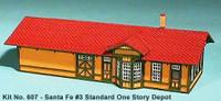 Santa Fe #3 Standard 1Story Depot N American Model Builders