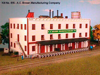 A.C. Brown Manufacturing Co. 3Story Factory N American Model Builders