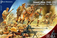 28mm British & Commonwealth Infantry Desert Rates 1940-1943 (38) Perry Miniatures
