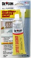 All Purpose Clear Silicone Adhesive & Sealant (1.76 oz. tube) Devcon