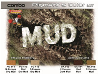 Mud Pigment & Color Acrylic Paint & Pigments Set Lifecolor