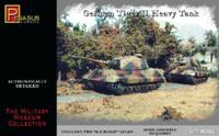 German Tiger II Heavy Tank (2) (Snap) 1/72 Pegasus