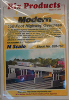 150' Modern Highway Overpass w/Piers (4) N Rix Products