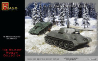 Russian T34/76 Soviet Battle Tank (2) (Snap) 1/72 Pegasus