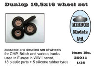 Dunlop 10 5x16 Wheel/Tire Set for CMP/British Trucks 1/35 Mirror Models