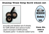 Dunlop Trak Grip 9x16 Wheel/Tire Set for WWII CMP/British Trucks 1/35 Mirror Models