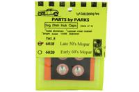 Dog Dish Hub Caps, Late 50s Mopar 1/25 Parts by Parks